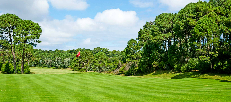 Lush golf course in Uruguay