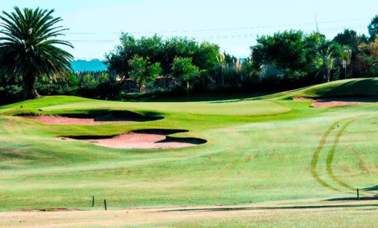 Green of golf course in Uruguay