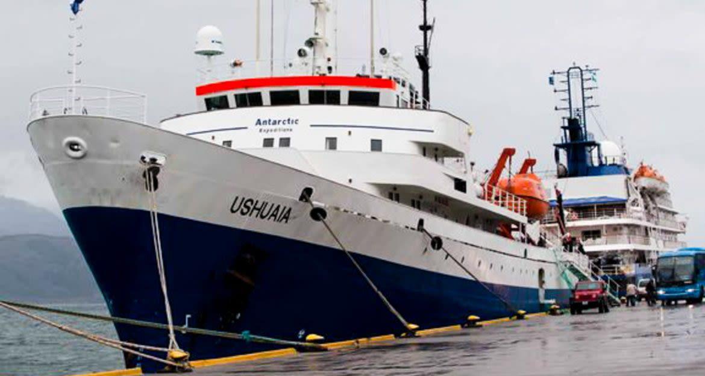 Ushaia cruise ship docked