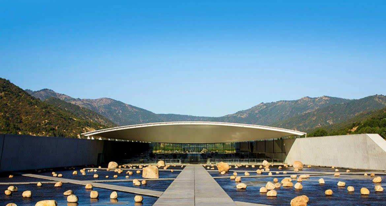 Low building of Viña Vik Winery