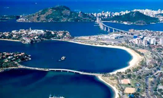 Aerial view of Vitoria, Brazil