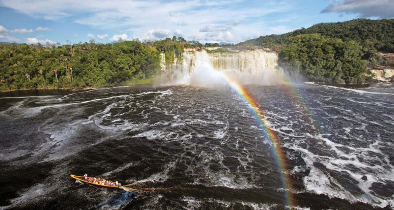 Boat in Canaima National Park in Venezuela