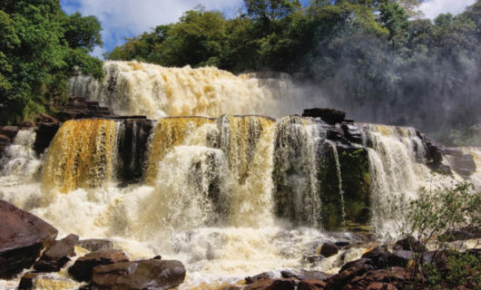 Rushing waterfalls in Canaima National Park