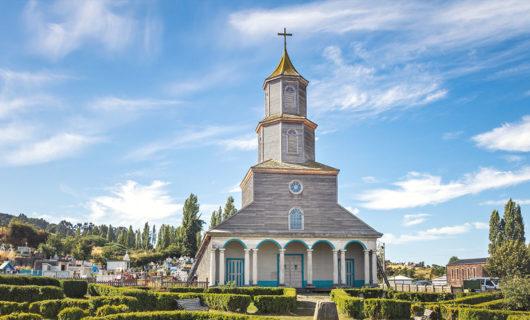 historic wooden church in Chiloe