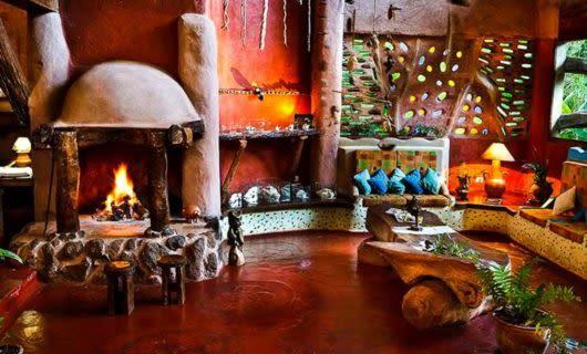 Lounge of Yacutinga Lodge