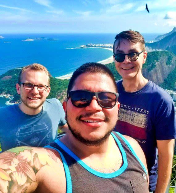SAT team takes selfie above Rio de Janeiro, Brazil