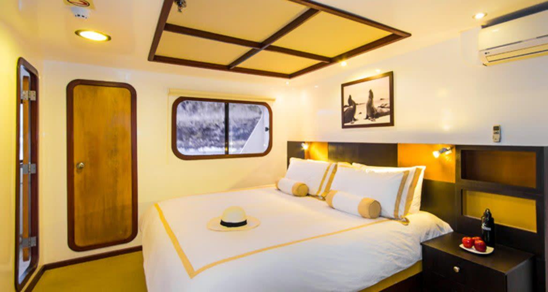 Cabin of Cormorant Galapagos cruise ship