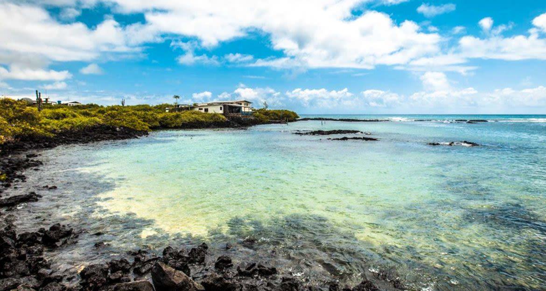 Building at end of Galapagos bay