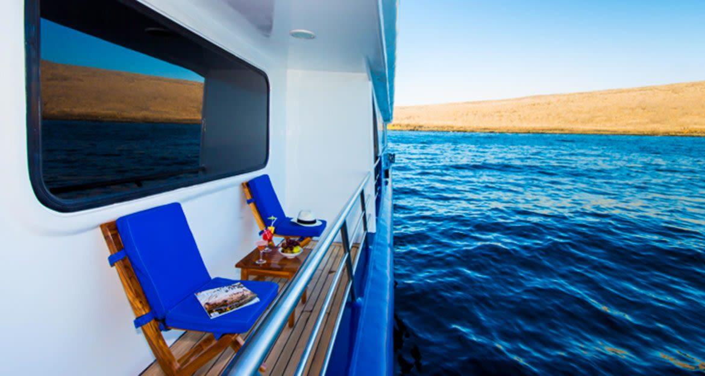 Balcony of Ocean Spray cruise ship