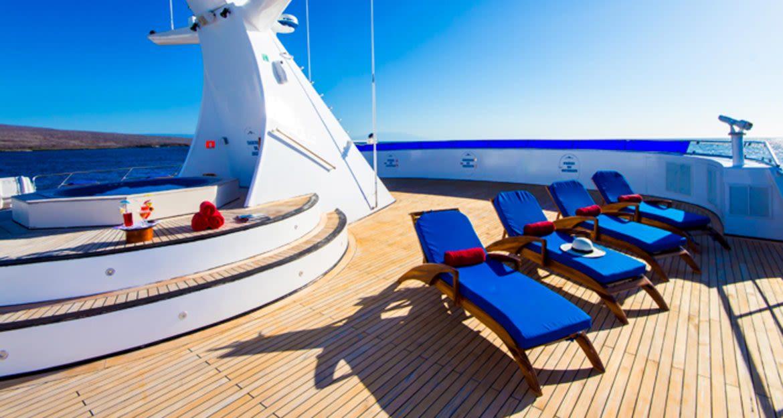 Sun deck of Ocean Spray cruise ship
