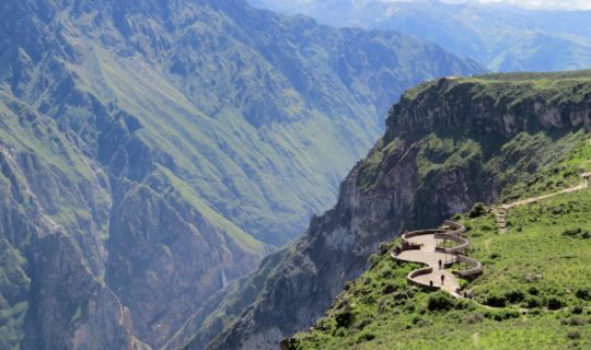 Landscape of Colca Canyon Peru