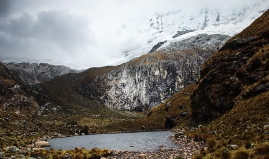 mountain-lake-and-snow-covered-peaks