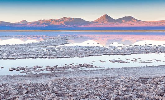 the Atacama salt flats