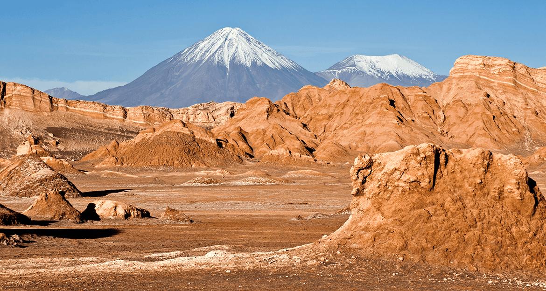 Atacama Desert with mountain