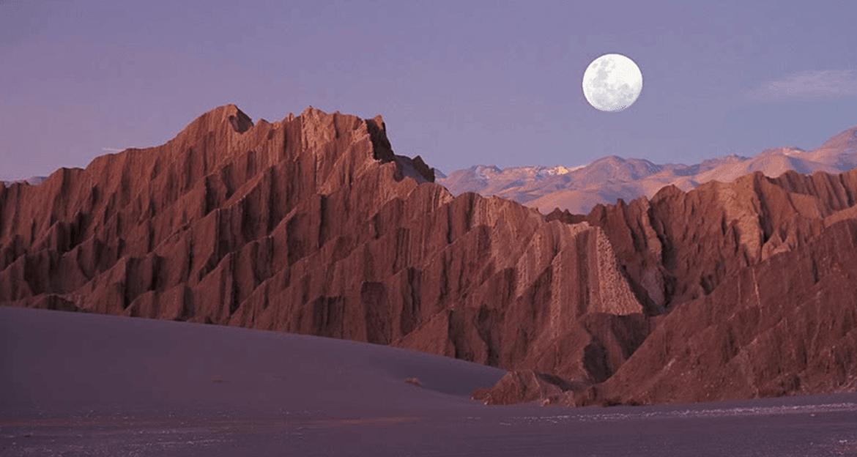Atacama desert at night