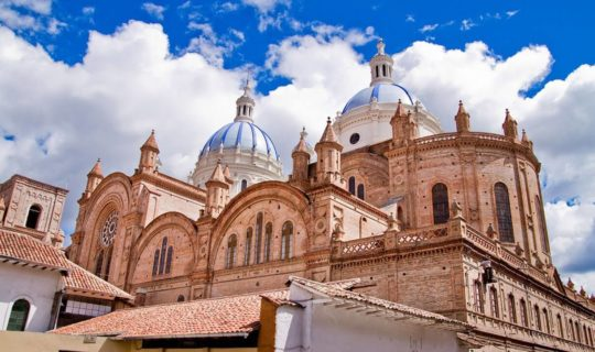 old-cathedral-in-ecuador-with-beaitful-blue-roof