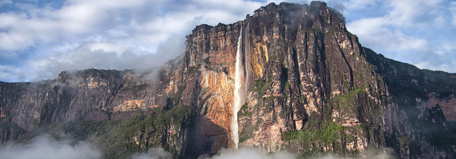 distant view at Angel Falls during Wet Season