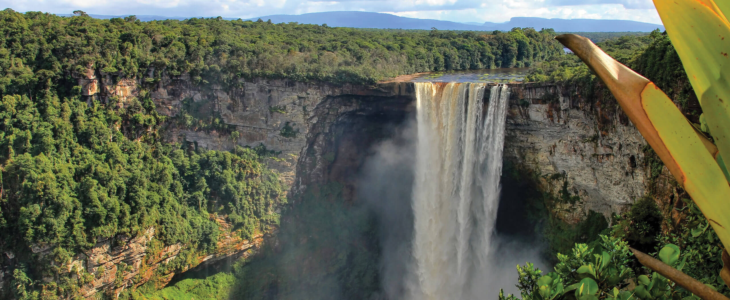Kaieteur Falls in Guyana as seen on our Guyana Tours