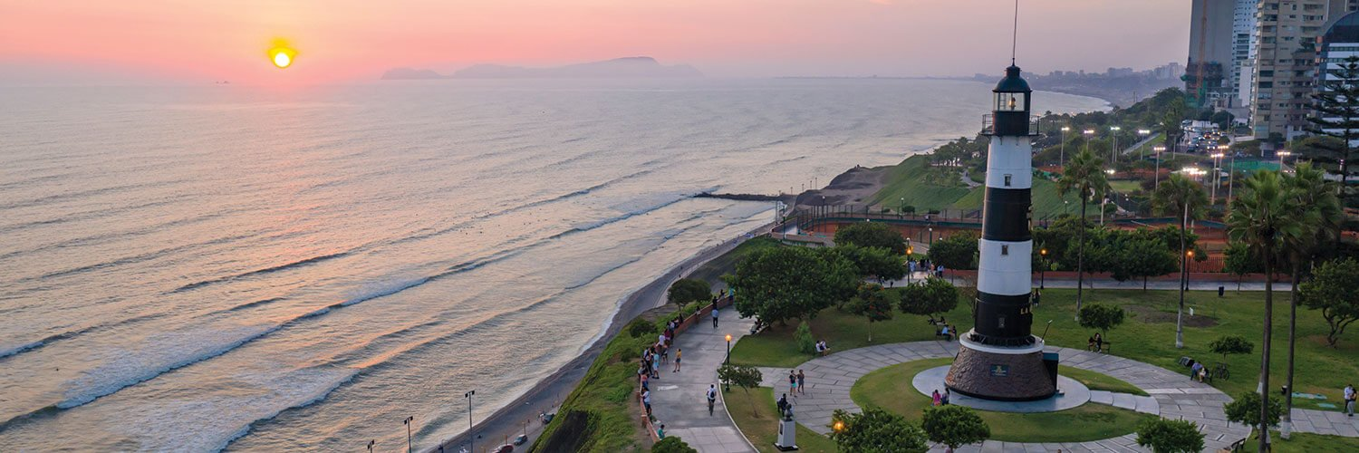 sunset in Lima Peru in the summer
