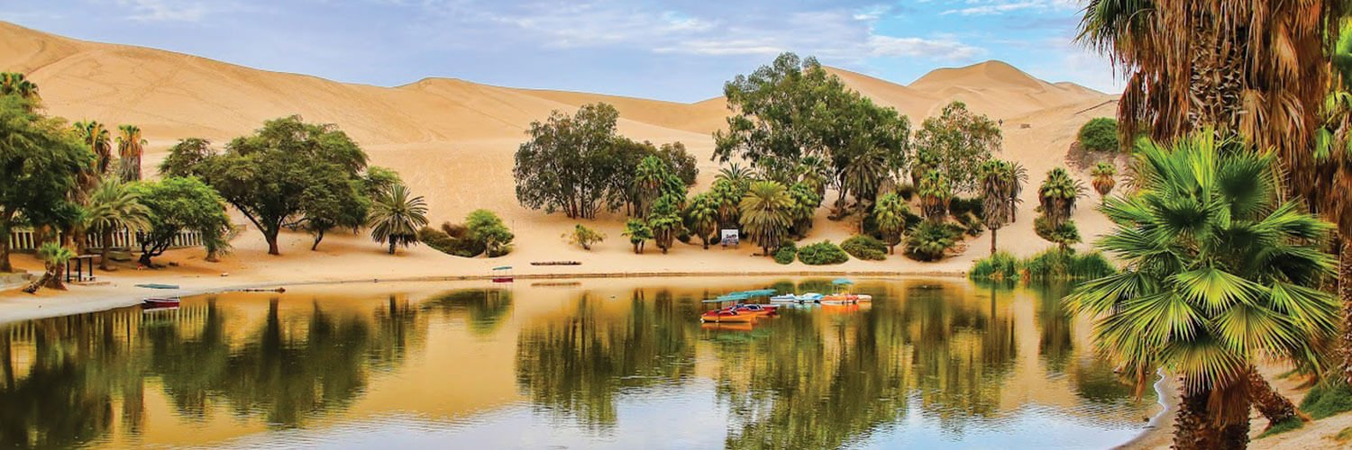 Sand desert in Huacachina Peru in Autumn