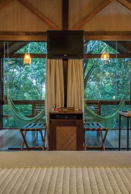 Inside of Anavilhanas Amazon lodge room