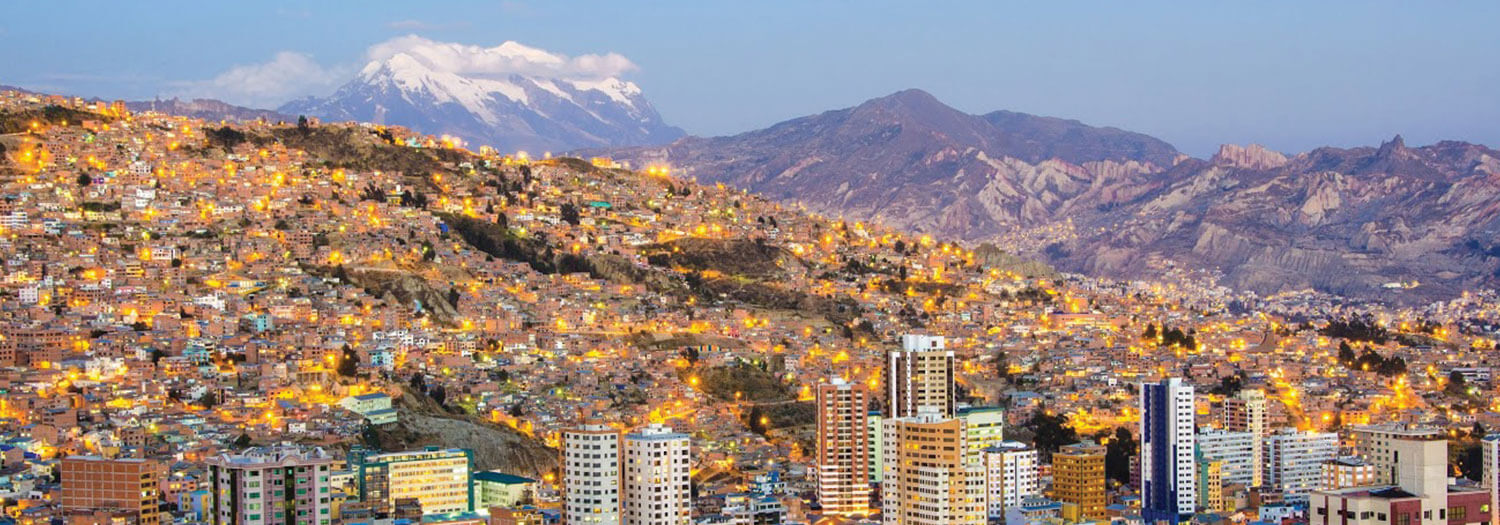panoramic view of La Paz Bolivia in autumn