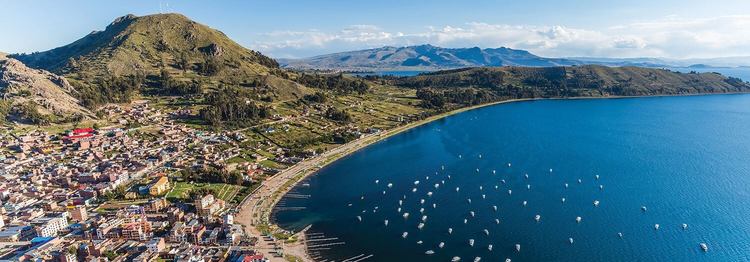 Lake Titicaca Bolivia in the Spring