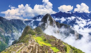 machu picchu surrounded by clouds
