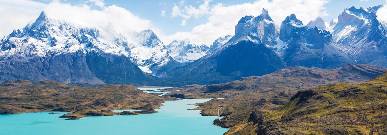 Patagonia mountains in the summer