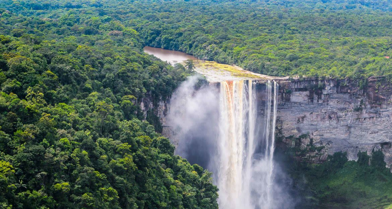 aerial view of kaieteur falls