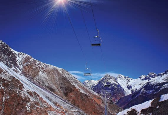 ride the chairlifts at Aconcagua ski resort in Argentina