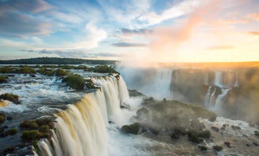 Iguazu Falls side profile