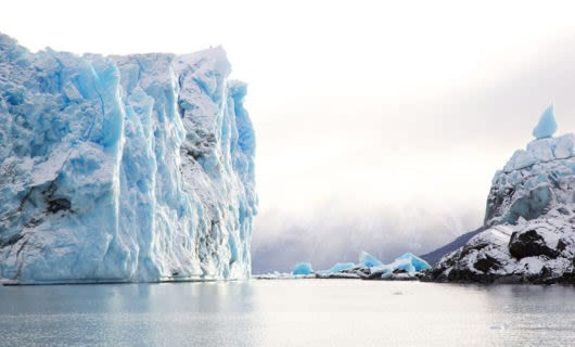 Perito Moreno Glacier on foggy day