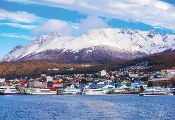 photo of the port city of Ushuaia near Antarctica