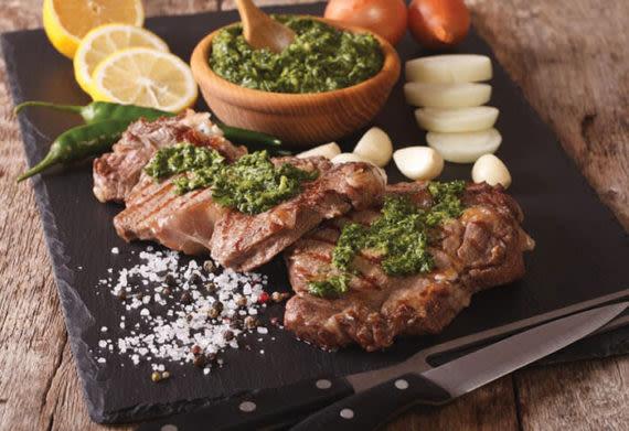 argentine steak with chimchurri sauce