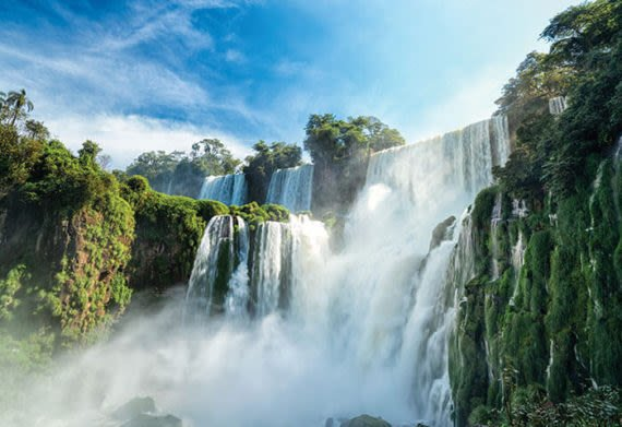 views of iguazu falls national park on the argentine side