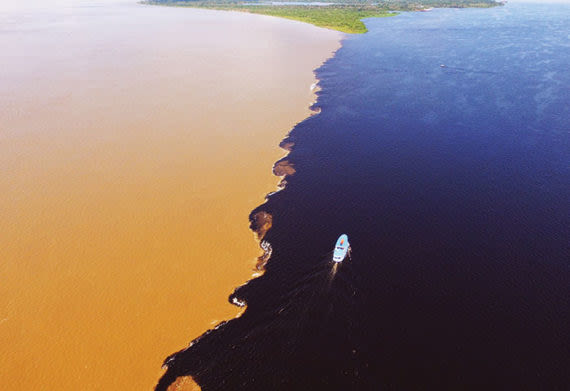 Aerial view of the Meeting of the Waters