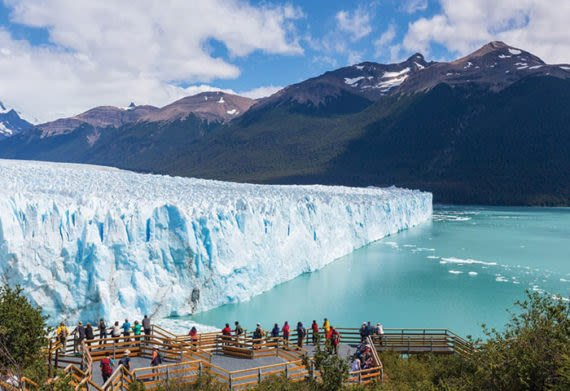 Travelers seeing Perito Moreno Glacier as a fun thing to do in Argentina
