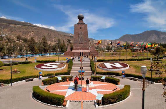 Ciudad Mitad del Mundo at equator