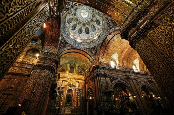 Compañía-de-Jesus-gold-interior