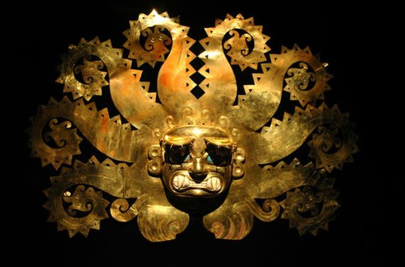 gold artifact at museum '