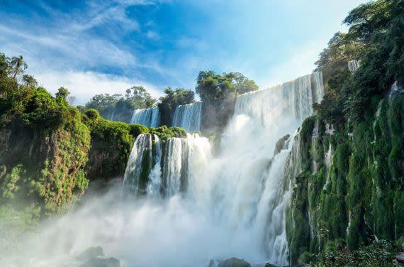View of iguazu falls from below