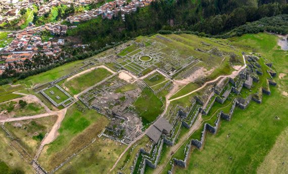 Incan Ruins on hill