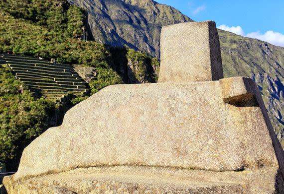 the sacred intihuatana stone
