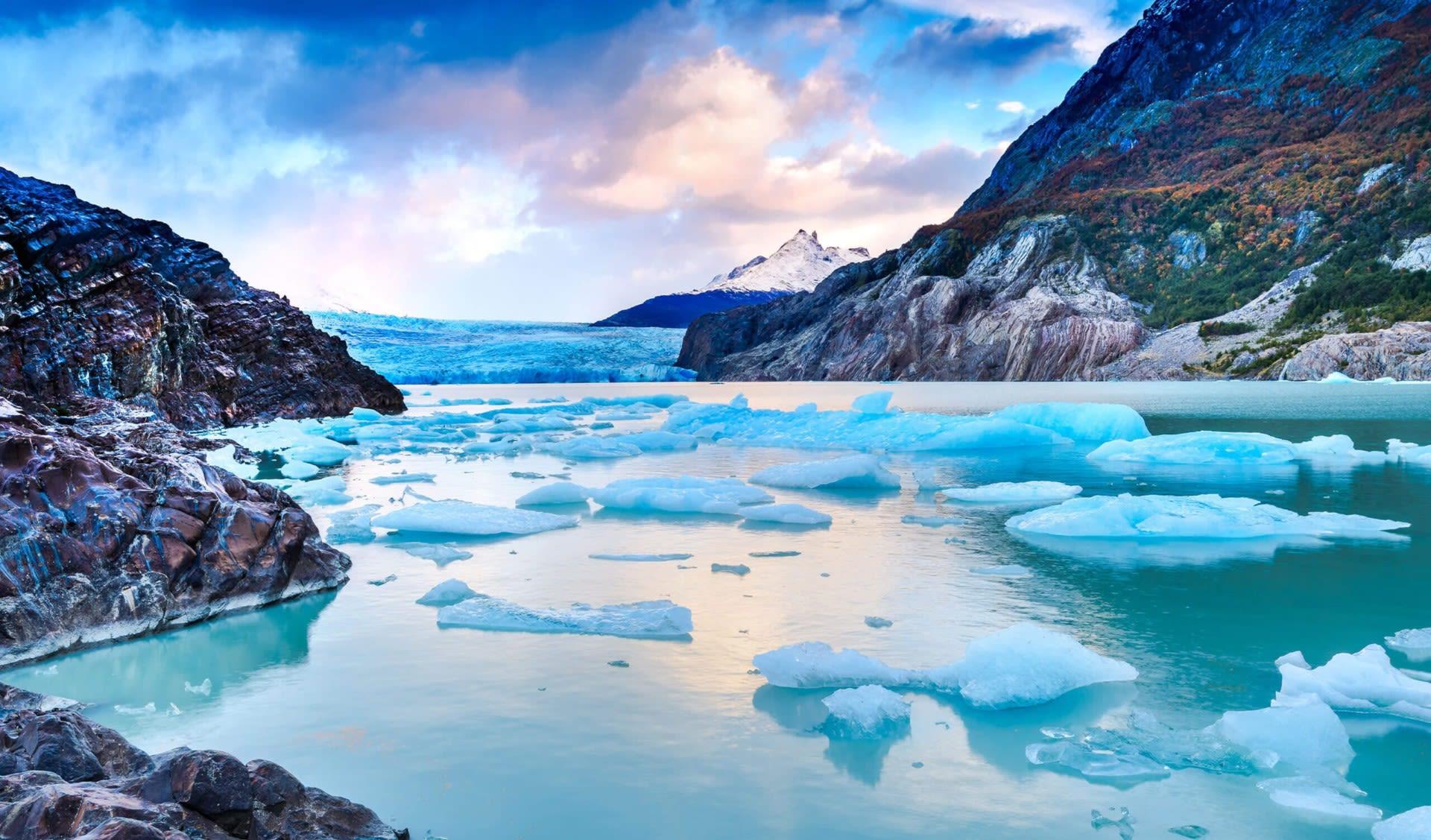 Patagonia glacier and water