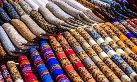 artisan cloth at traditional market