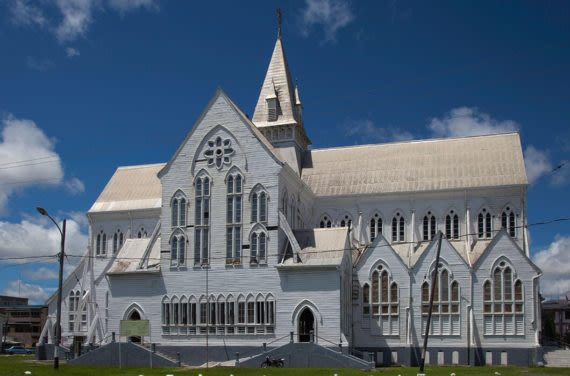 View of St Georges Cathedral in Guyana