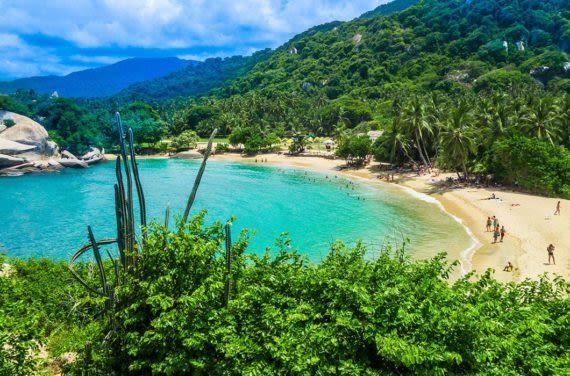 Tayrona Park secluded beach