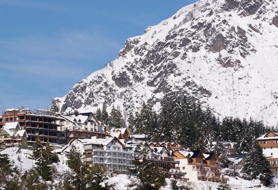 bariloche ski resort in the winter