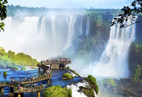iguazu falls on the brazilian side